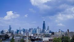 Chicago Time-lapse of downtown and the sky Stock Footage