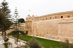 Main Gate city access to Mdina - stock photo