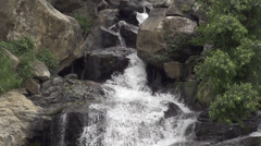 SLOW MOTION: Waterfall Close Up Stock Footage
