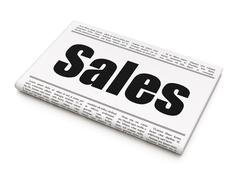 Advertising concept: newspaper headline Sales Stock Illustration