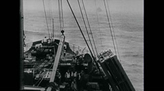 WW2 - US Navy - Pacific - Warships 03 - On Sea 02 Stock Footage