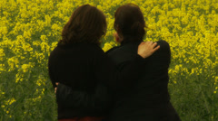 Female lovers in the countryside Stock Footage