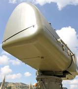 military camouflage huge radar for reconnaissance of enemy planes 3 - stock photo