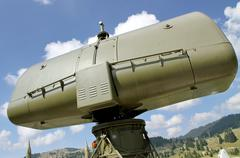 Military camouflage huge radar 2 Stock Photos