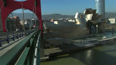 Traffic near Guggenheim Museum, Bilbao Stock Footage