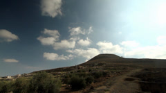 King's Herod Palace and grave-Mountain Timelaps Stock Footage