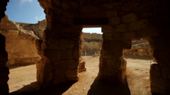 Glide shot in archaeological site Stock Footage