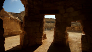 Stock Video Footage of Glide shot in archaeological site