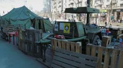 Field kitchen from Euromaidan Revolution Stock Footage
