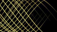 Yellow glowing lines create dynamic net - seamless loop (FULL HD) Stock Footage