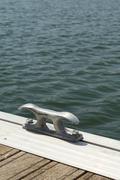 Floating dock - stock photo