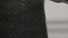 Rough carbon fibre - stock footage