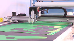 Machine cutting shapes with laser Stock Footage