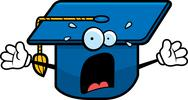 Stock Illustration of scared graduation cap