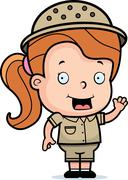 Safari girl Stock Illustration