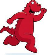 Stock Illustration of dinosaur running
