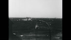 WW2 - US Navy - Ships 02 - Convoy at Sea Stock Footage