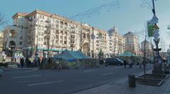 Euromaidan revolution in Kiev Stock Footage
