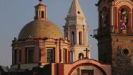 Stock Video Footage of Adorned church in Mexico