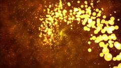 Particle Spiral - Loop Orange - stock footage