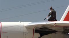 US Coast Guard, Military,Woman flight crew  Stock Footage