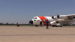US Coast Guard, Military, reporting for duty Stock Footage