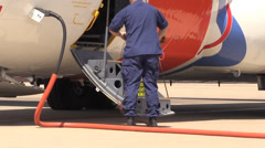 US Coast Guard, Military, preparing for take off Stock Footage