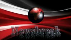 Newsbreak, 3D title animation for videos HD Stock Footage