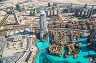 Stock Photo of Dubai downtown. East, United Arab Emirates architecture