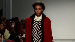 A Beautiful African American During Fashion Week. Stock Footage
