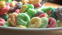 Bowl of Cereal, Grains, Breakfast Foods - stock footage