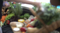 Collection Of Fresh Fruit And Veg And Farm Produce Stock Footage