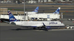 JetBlue Airlines terminal gates Stock Footage