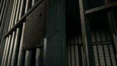 Jail cell door slam physical new Stock Footage