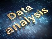 Stock Illustration of Data concept: Golden Data Analysis on digital background