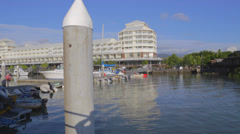 The pier at Cairns esplanade Stock Footage
