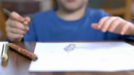 Stock Video Footage of Close Up on Little Hands Drawing