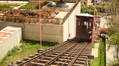 Angels Flight Time Lapse in Downtown Los Angeles -Tilt Up- Stock Footage
