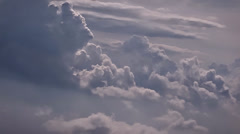 Picturesque large clouds Stock Footage
