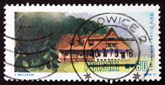 Stock Photo of Postage stamp Poland 1972 Hala Ornak, West Tatra