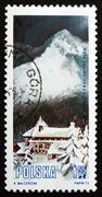 Postage stamp Poland 1972 Mountain Lodge, Hala Gasienicowa - stock photo