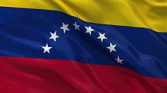 Flag of Venezuela - seamless loop Stock Footage
