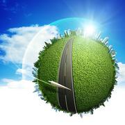 global eco transportation concept for your design - stock illustration