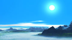Clear day in the mountains Stock Footage