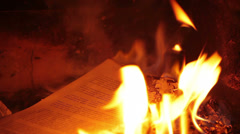 Burning page, HD 1080p Stock Footage