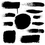 Black blobs set Stock Illustration
