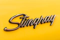 1971 Corvette Stingray Sign Close Up - stock photo