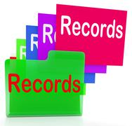 records folders show files reports and evidence - stock illustration