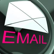 Stock Illustration of email envelope shows sending and receiving web messages
