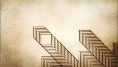 Abstract animation with growing geometric pattern on textured background. Stock Footage